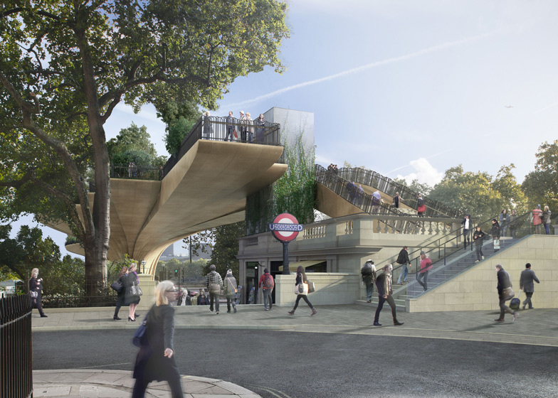 New images released of Heatherwicks Garden Bridge across the Thames