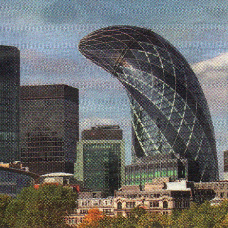 A manipulated image of Foster + Partners' Gherkin skyscraper was used to advertise erectile dysfunction treatment