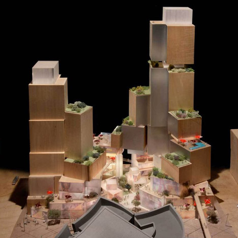 Gehry presents new proposal for site opposite his Walt Disney Concert Hall