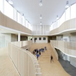 International School Ikast-Brande with curving balconies by C. F. Møller