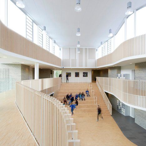 International School Ikast-Brande with curving balconies by CF Møller