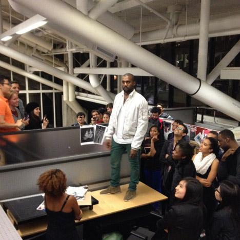 """The world can be saved through design"" says Kanye West"