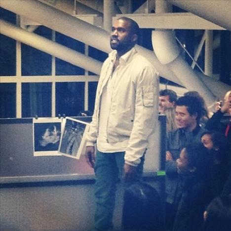 Kanye West at Harvard Instagram photo by dashamikic