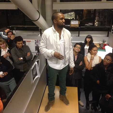 Kanye West at Harvard Instagram photo by joseramonsierra
