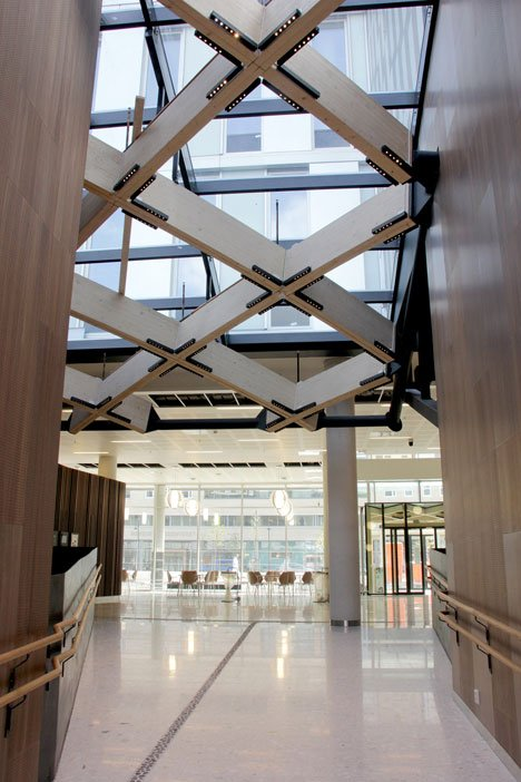 Knowledge Cente at St Olavs Hospital in Trondheim , Norway, by Ratio Architects and Nordic Office of Architecture