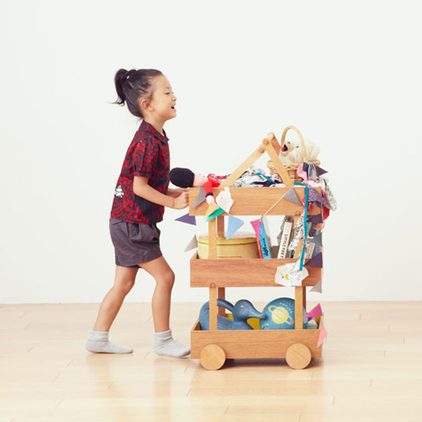 Koloro Wagon stacking wooden storage boxes by Torafu Architects_dezeen_4