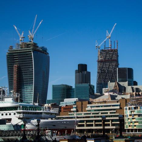 London skyscrapers under construction