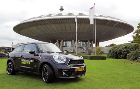 MINI Paceman outside Evoluon building, Eindhoven