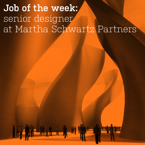Job of the week: senior designer at Martha Schwartz Partners