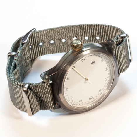 Minuteman watches by Squarestreet at Dezeen Watch Store - One Hand Grey