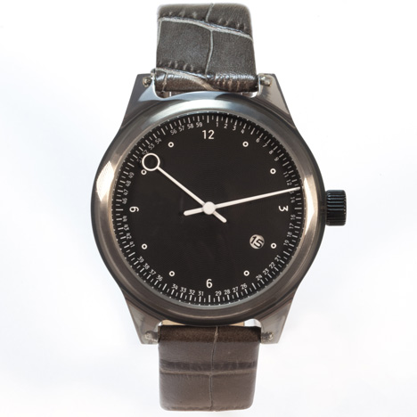Minuteman watches by Squarestreet at Dezeen Watch Store - Two Hand Grey