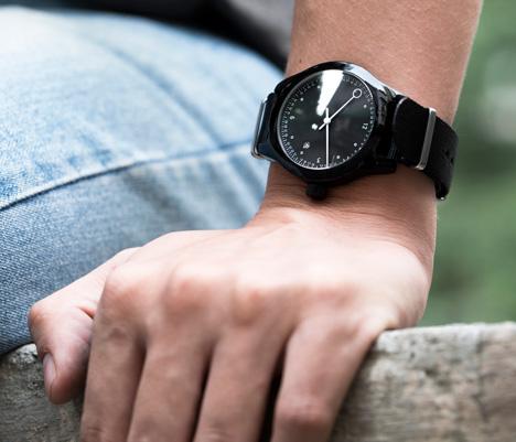 Minuteman watches by Squarestreet at Dezeen Watch Store - black