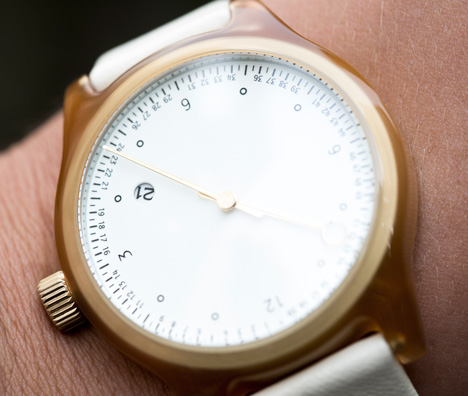 inuteman watches by Squarestreet at Dezeen Watch Store - honey closeup