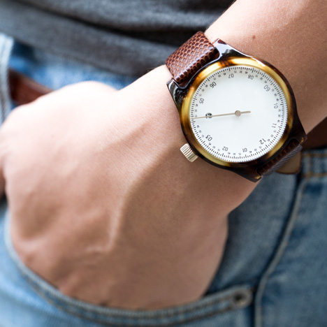 Minuteman watches by Squarestreet at Dezeen Watch Store - tortoise