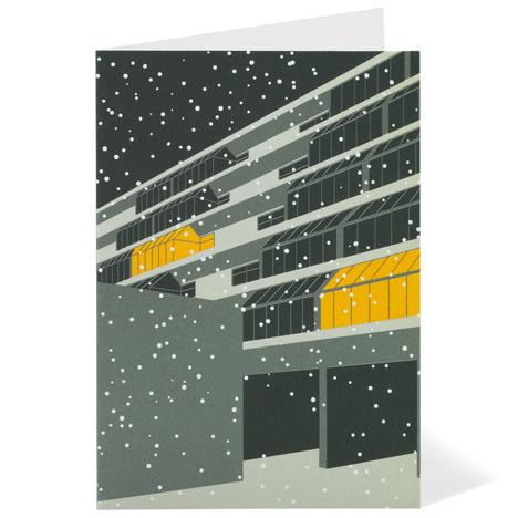 Modernist London Christmas cards Brunswick Dezeen competition