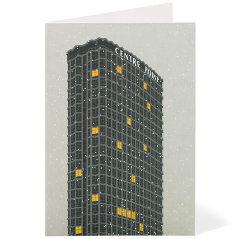 Modernist London Christmas cards Centre Point Dezeen competition