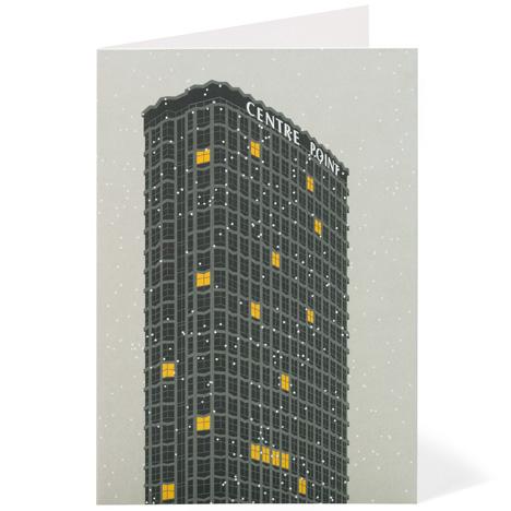 Modernist London Christmas cards Centre Point Dezeen competition