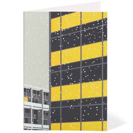 Modernist London Christmas cards Golden Lane Dezeen competition