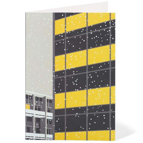Modernist London Christmas cards Golden Lane Dezeen competition