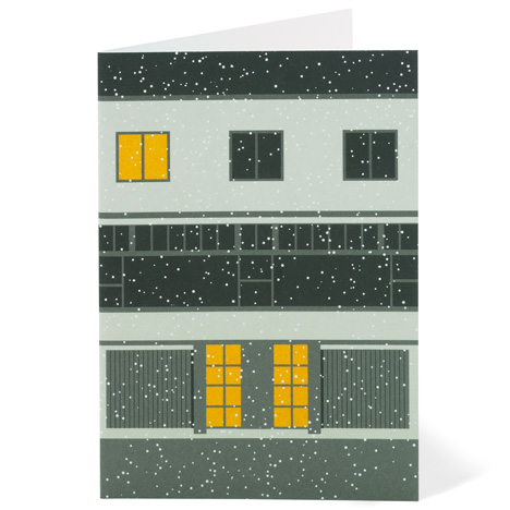 Modernist London Christmas cards Willow Dezeen competition