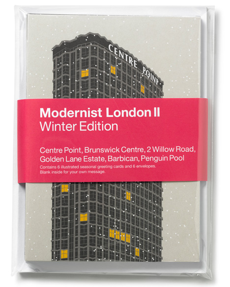 Modernist London Christmas cards pack Dezeen competition