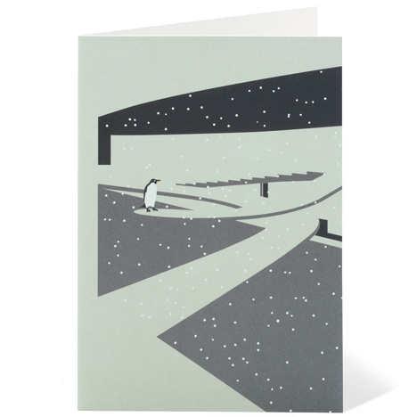Modernist London Christmas cards penguins Dezeen competition