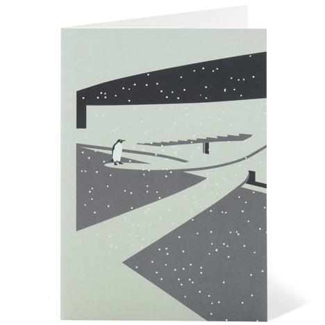 Modernist London Christmas cards penguins Dezeen competition