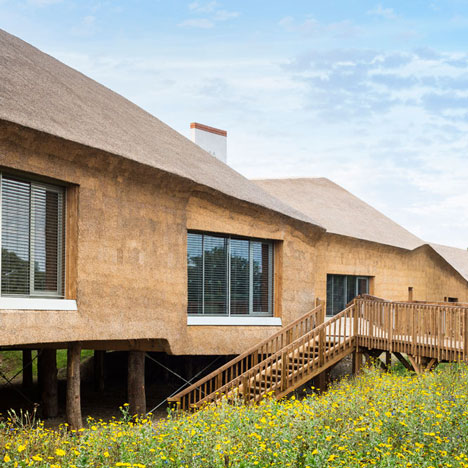 Beautour thatched museum and biodiversity research centre by Guinée*Potin Architectes