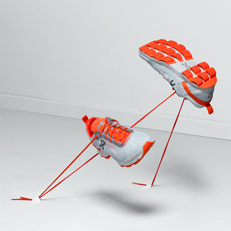 Running shoes with rubber loops on the soles win Swiss design prize