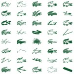 Peter Saville interprets Lacoste's crocodile logo for Holiday Collector polo shirts