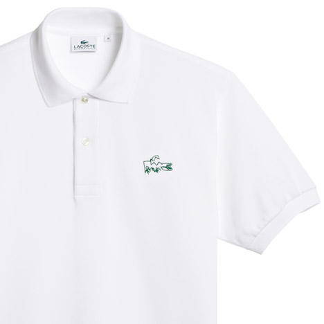54f180607b6b Peter Saville abstracts Lacoste logo for Holiday Collector polo shirts