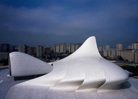 Heydar Aliyev Centre by Zaha Hadid photographed by Hélène Binet