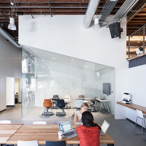 Pinterest's San Francisco headquarters<br /> by All of the Above and First Office