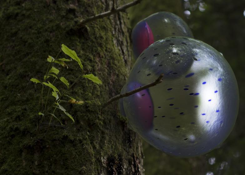 The puffball-like Self-inflating Antipathogenic Membrane Pump by Alexandra Daisy Ginsberg