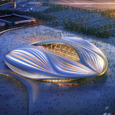 Zaha Hadid's Qatar 2022 World Cup stadium