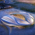 Zaha Hadid's yonic stadium for Qatar