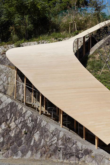 Roof and Mushrooms pavilion by Nendo and Ryue Nishizawa