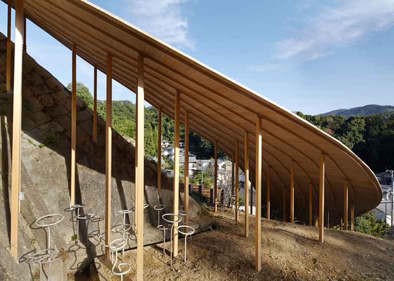 Roof and Mushrooms pavilion by Nendo and Ryue Nishizawa