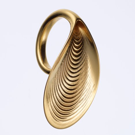 Ross Lovegrove 3D-printed gold jewellery