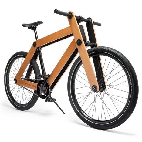 Sandwichbike flat-pack wooden bicycle by PedalFactory goes into production