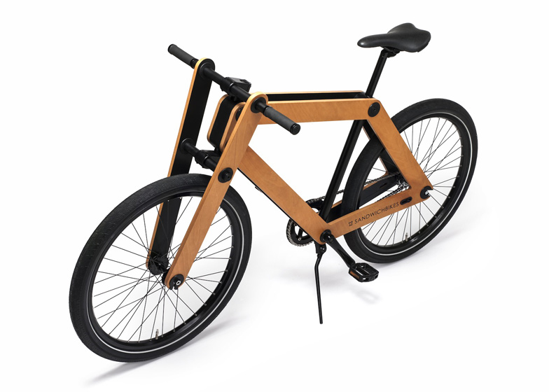 Sandwichbike flat-pack wooden bicycle goes into production | design
