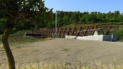 Sant Pere Sacarrera corten steel Footbridge by Alfa Polaris SL
