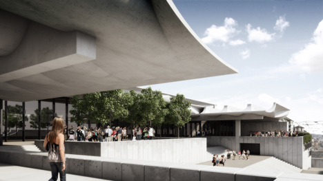 Schauspielhaus by Jørn Utzon for Zurich virtually constructed in realisticc renders by Virtual Design Unit
