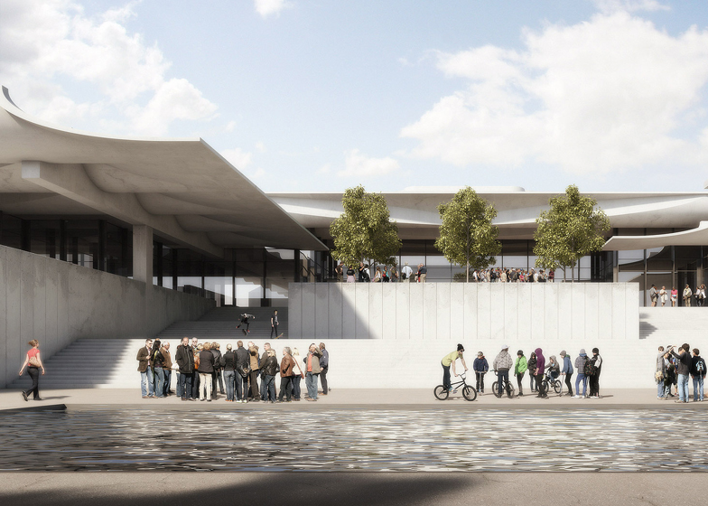 Schauspielhaus Zurich by Jorn Utzon renderings by Virtual Design Unit