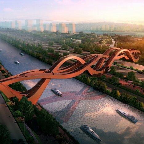 Sinuous structure by NEXT architects wins Chinese bridge competition