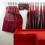 Studio Toogood creates a blood red installation for Hermès