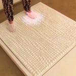 Simulation of bio-detecting floor