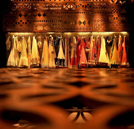 Tashya bridal wear store in Chandigarh, India, by Charged Voids