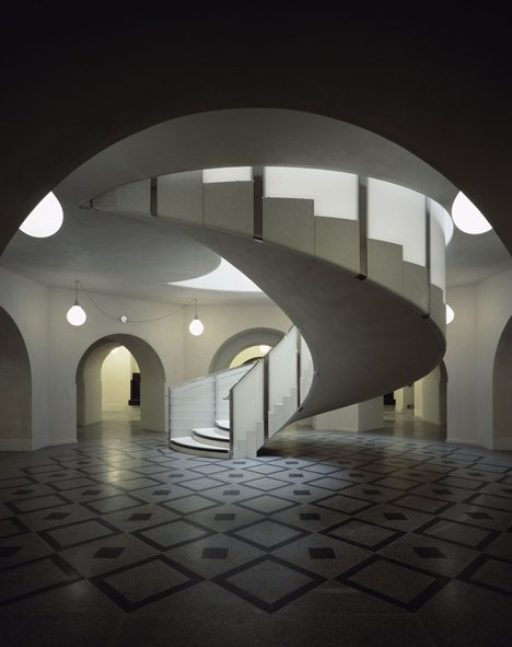 Spiral staircase at Tate Britain by Caruso St John