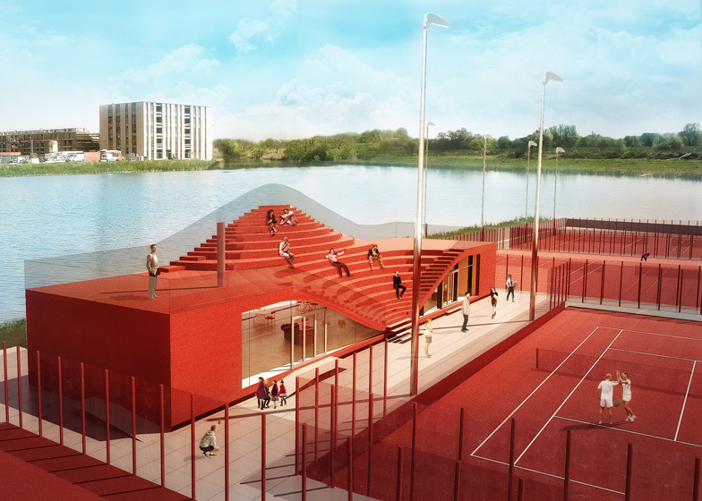 The Couch clubhouse for Tennisclub IJburg by MVRDV
